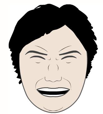 emotions faces cartoon. a responsive cartoon face.
