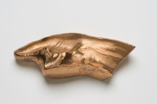 Duchamp, Untitled (Erotic Object), 1959. Copper-electroplated plaster