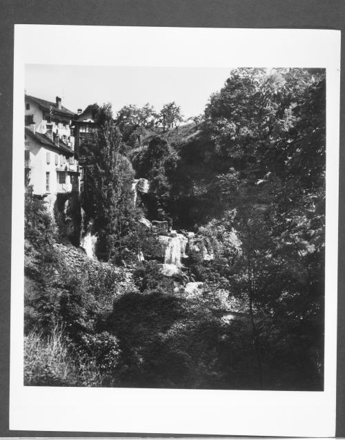 Duchamp, Swiss Landscape with Waterfall (I), 1946. Gelatin silver print