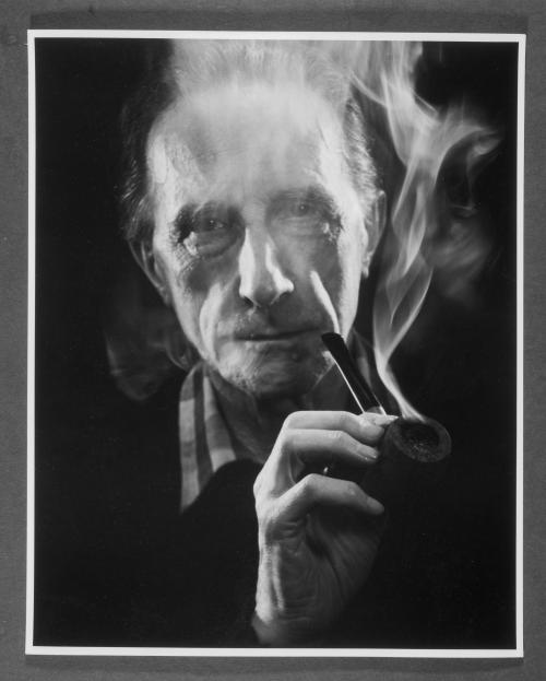 John D. Schiff (American, born Germany, 1907-1976), Marcel Duchamp (With Pipe), 1957
