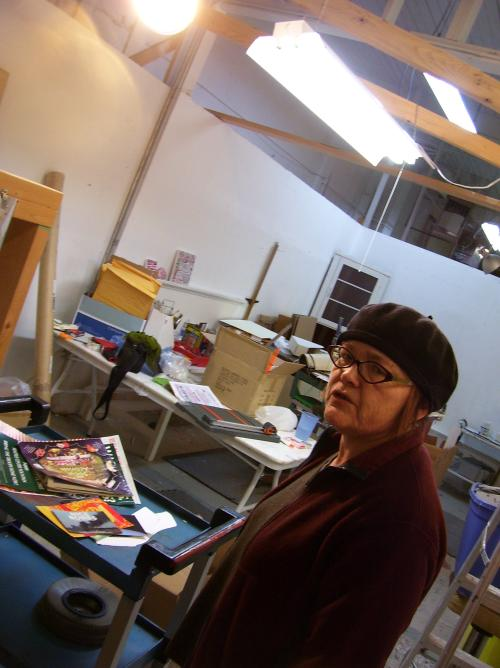Deborah F. Lawrence in her studio at 1723 First Avenue, formerly Fay Joness space.