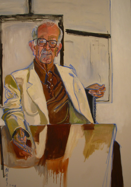Alice Neel, Richard Lang, 1978, 50 by 35 inches