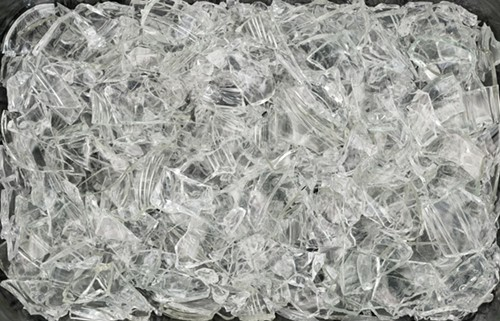 6 Glasses, all cracked. Like a field of Mark Tobey white writing, or a Pollock allover composition, but not.