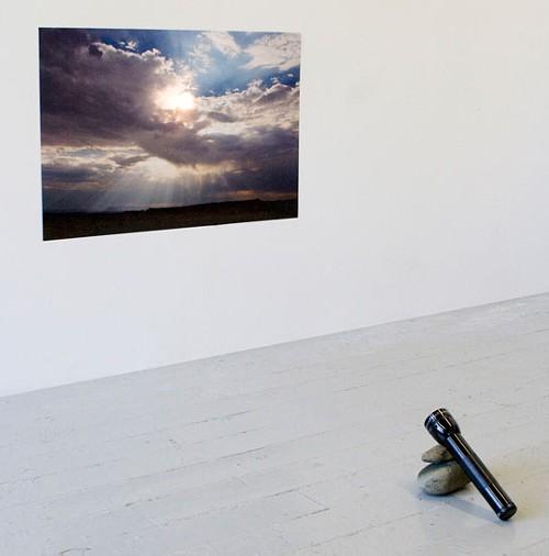 Right Back at You, Letha Wilson, digital C-print, flashlight, rocks (2009)