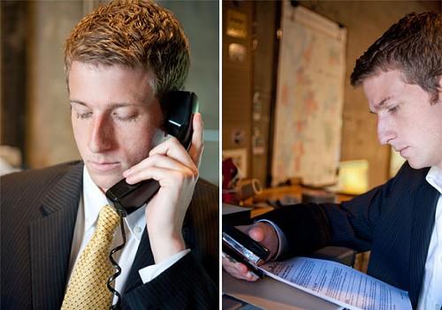 JOE FITZGIBBON: Answering the phone; JOE FITZGIBBON: Using a Stapler