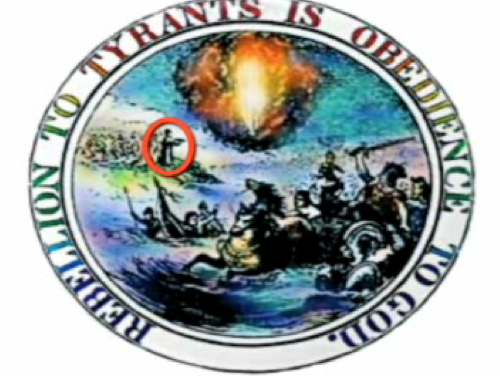The original seal of the United States. Note Moses there. Hes drowning his foes. Just like they do in America!