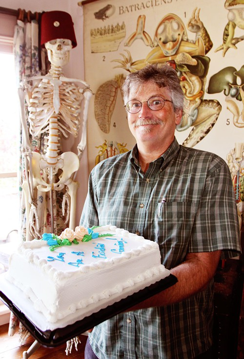 Jim Woodring and the Cake (Click to Enlarge)