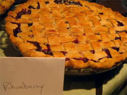 The Rhueberry (rhubarb and blueberry) pie won second place in the pie category.