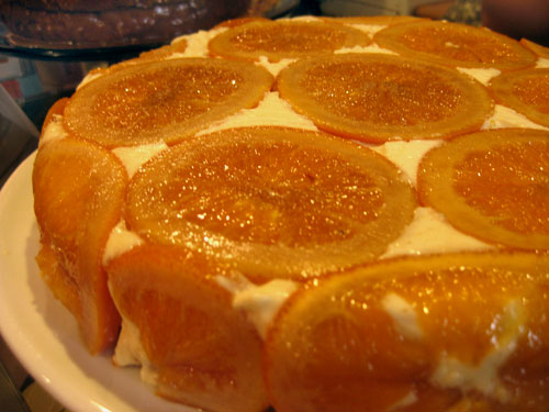 This cake was called Gateau Alorange. It smelled delicious.