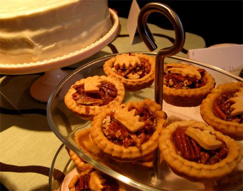 Mini bourbon pecan pies.