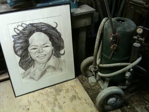 Parrishs Oprah and the late James Washington Jr.s machine.