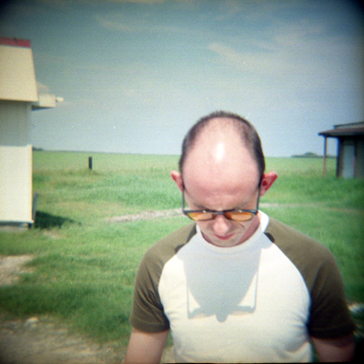 Duncan (2002), shot with a Diana camera, 19 by 19 inches