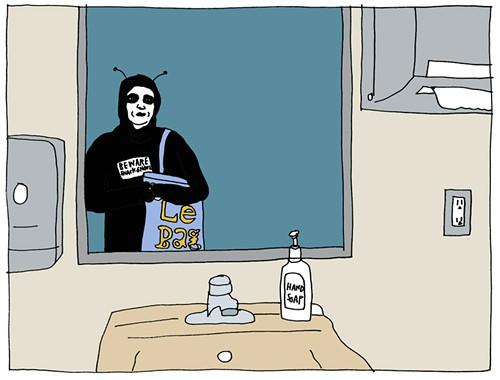 Snack Ghoul, Safeway Bathroom, 3:26am 10/31/10