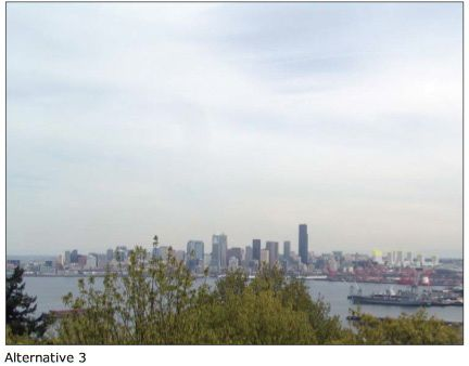 Seattles new skyline with option 3