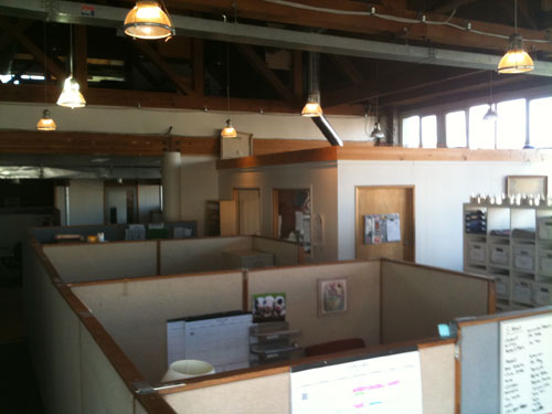 The sales department (Third floor).