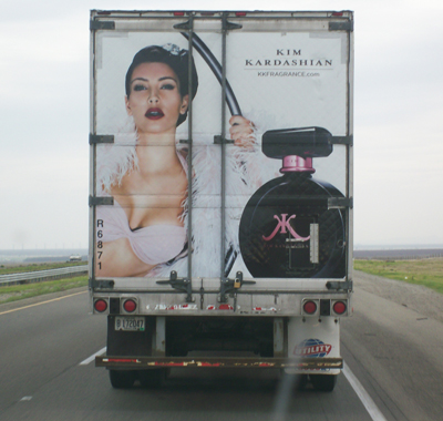 I followed this truck for three hours and had imaginary conversations with Kim: