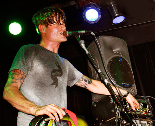 Johnny Dwyer of Thee Oh Sees Fiddling With Some Knobs at The Crocodile