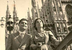 Vince and Ada in Milan, 1954.