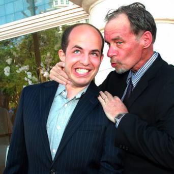 Brian Stelter, left, claims hes not a robot. David Carr, right, is not so sure.