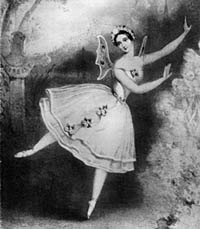 Carlotta Grisi as Giselle in Paris, 1841.