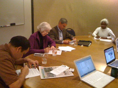 District 6 candidates Nick Esparza, Marty McLaren, Steve Sundquist, and Joy Anderson hard at work