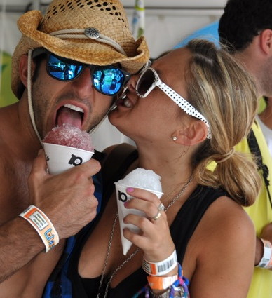 Free snow cone! (Attractive woman licking your ear, not included.)