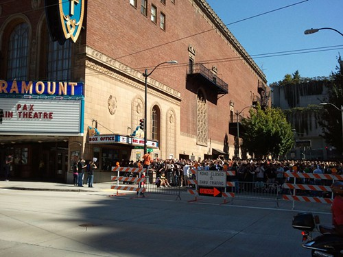 So... the Paramount regularly sells out. How do they do that without closing a street?