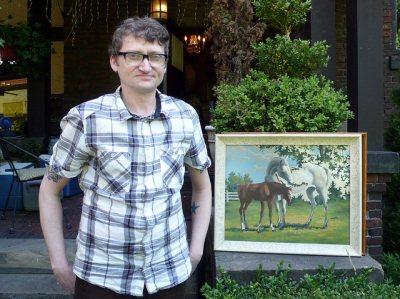 Huffman plus horses.