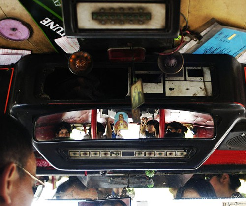 Michele Domingos Jeepney Ride, 2007, from her series on religion in the Philippines.