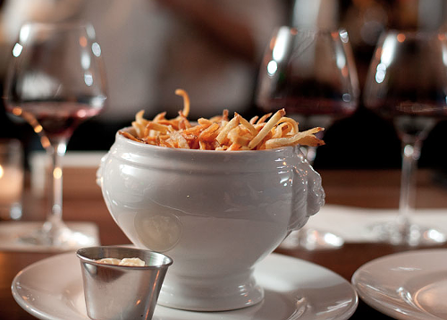 Pommes frites at Marche, oui, please!