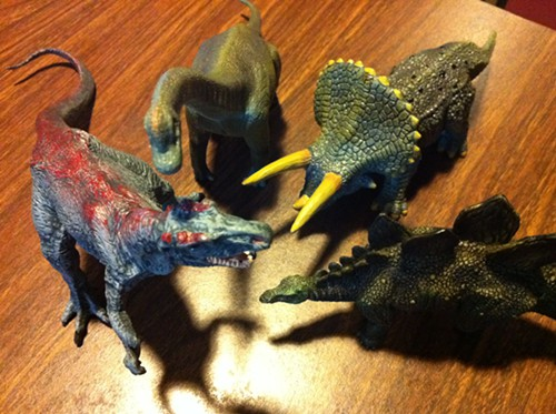 I have more dinosaurs on my desk than Terra Nova has per episode.