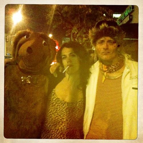 Petey the dog, Brigid Peg Bundy, and Hall