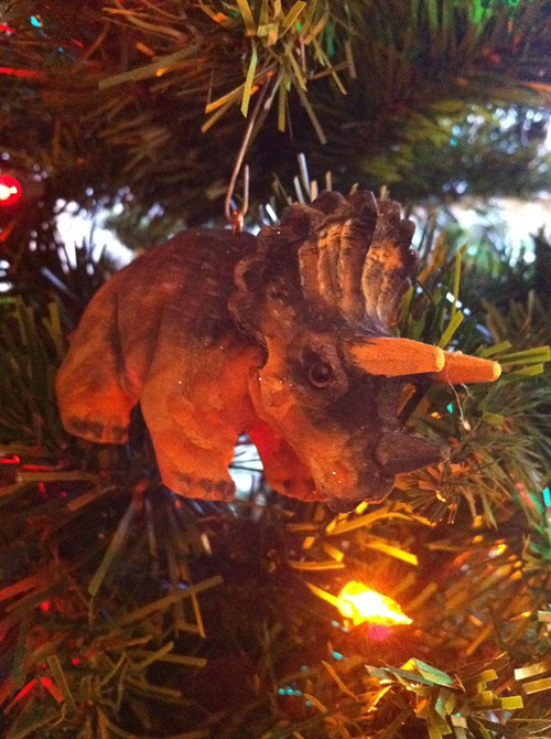 This is one of my very own dinosaur ornaments.