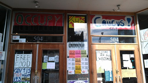 Occupy the Caucus storefront.