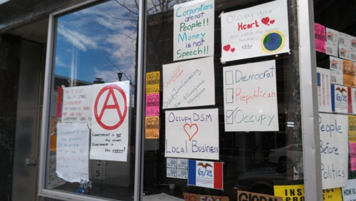 Another shot of the Occupy the Caucus storefront.