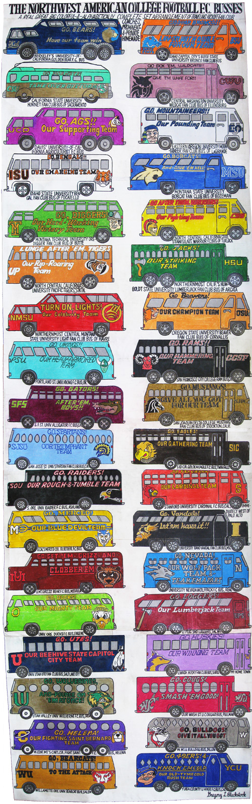 Gregory Blackstocks 2010 drawing The Northwest American College Football F.C. Busses.