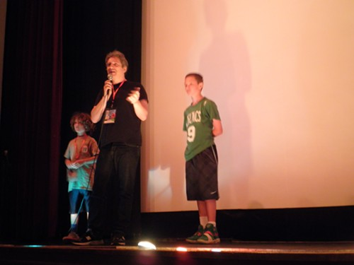 Kessler and his kids introduce the film