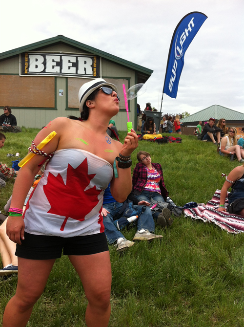 There are SO MANY Canadians here! They LOVE a music festival! And they love Canada!