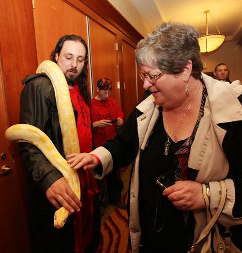 Wanna pet my snake?