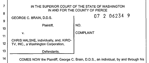 A 2007 lawsuit involving Chris Halsne in Pierce County.