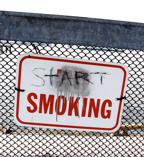 5. START SMOKING