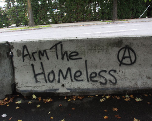 8. Arm The Homeless