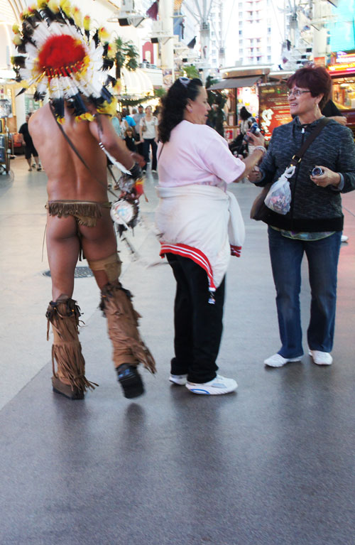 7. Native American wearing thong