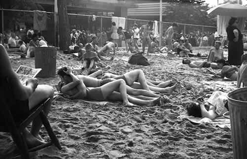 At Coney Island, circa early 1950s.