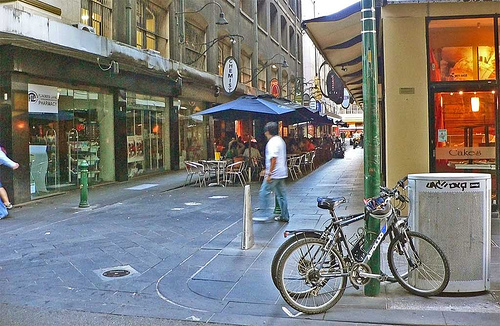 Degraves Street in Melbourne.