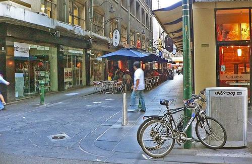 Degraves Street in Melbourne.