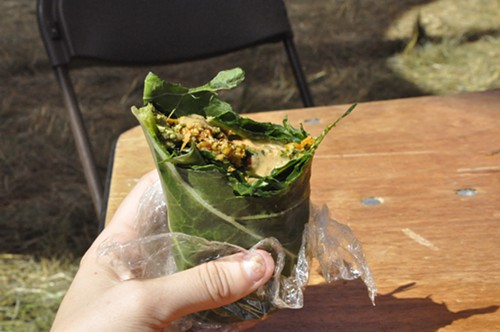 Affordably priced food wrapped in other food.