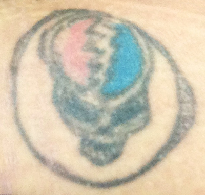 Melissa - Ungrateful Dead (she has nothing against the band, but this is just a bad tattoo)