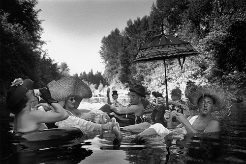 Burt Glinn, Members of the Seattle Tubing Society, Seattle, WA, 1953.