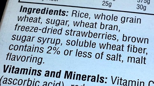 Here's where the GMO label should go--where everything else in the ingredients is. I-522's front-of-package requirement is an attempt to drive genetically modified foods off the market.